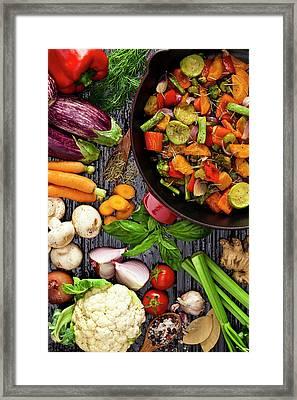Grilled Vegetables Framed Print by Fcafotodigital