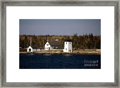 Grindel Point Lighthouse  Framed Print by Skip Willits