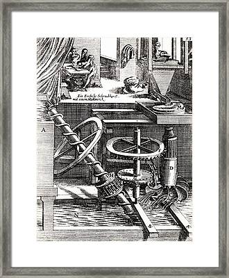 Grinding Mill Driven By Water Wheel Framed Print