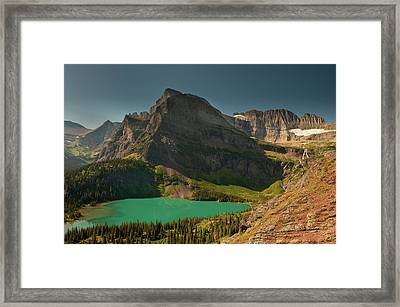 Grinnell Lake And Mount Gould, Glacier Framed Print