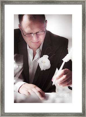 Groom Framed Print by Jorgo Photography - Wall Art Gallery