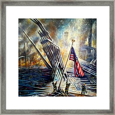 Ground Zero 911  Framed Print