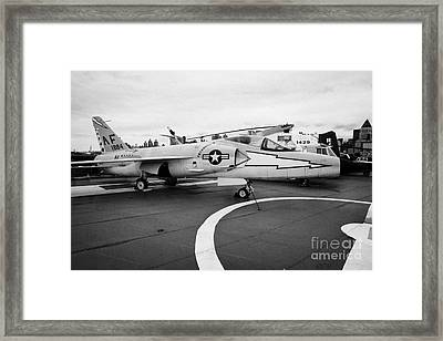 Grumman F11f Tiger On Display On The Flight Deck At The Intrepid Sea Air Space Museum Framed Print