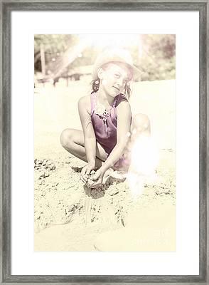 Grunge Summer Fun Framed Print