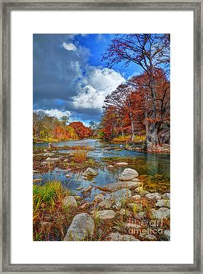 Guadalupe In The Fall Framed Print