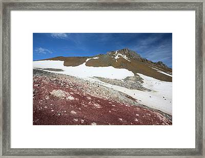 Guano In An Adelie Penguin Colony Framed Print