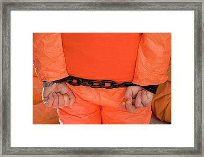 Guantanamo Protest Framed Print by Jim West