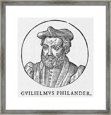 Guillaume Philandrier, French Humanist Framed Print by Middle Temple Library