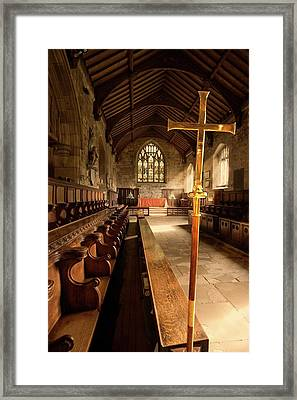 Guisborough, England  Interior Of Chapel Framed Print by John Short