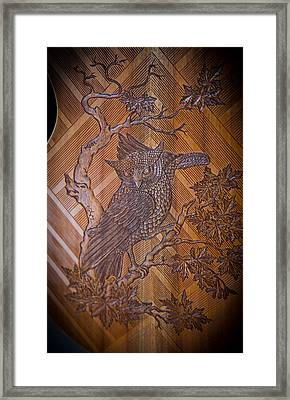 Framed Print featuring the photograph Guitar Carving - Bali by Matthew Onheiber