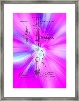 Guitar Patent 1888 Framed Print by Mountain Dreams