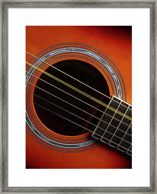 Guitar Strings At Rest And Vibrating Framed Print