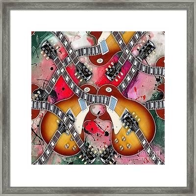 Guitar Mirage Framed Print by Marvin Blaine