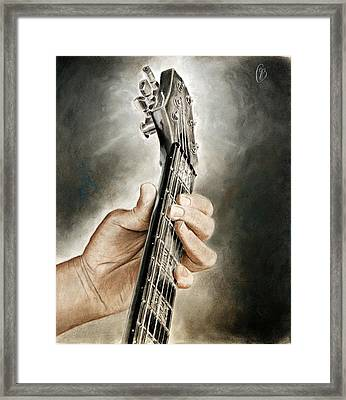 Guitarist's Point Of View Framed Print