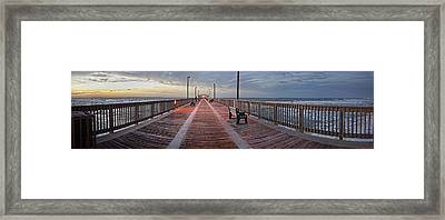 Framed Print featuring the digital art Gulf State Pier by Michael Thomas