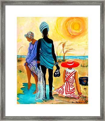 Gullah-creole Trio  Framed Print by Diane Britton Dunham