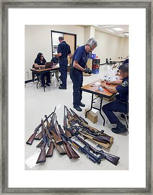 Gun Amnesty Framed Print by Jim West