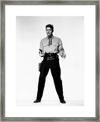 Gunfight At The O.k. Corral, Burt Framed Print by Everett
