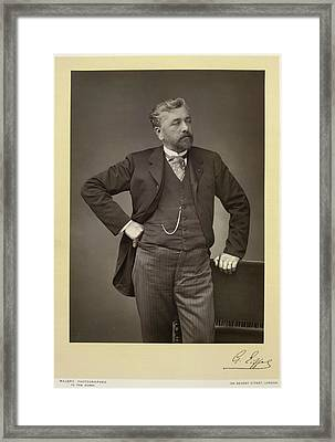 Gustave Eiffel Framed Print by British Library