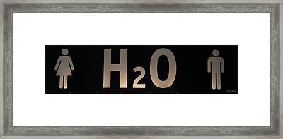 H2O Framed Print by Rob Hans