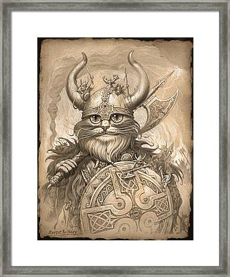 Haagar The Hairy Framed Print by Jeff Haynie