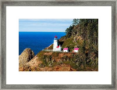 Framed Print featuring the tapestry - textile Haceta Head by Dennis Bucklin