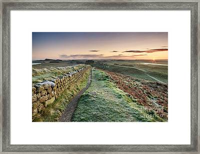 Hadrian's Wall Framed Print by Rod McLean