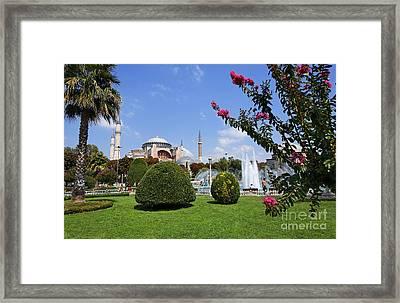 Hagia Sophia Museum And Gardens Istanbul Framed Print by Robert Preston
