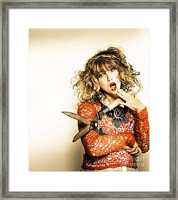 Hair Cut With Style Framed Print