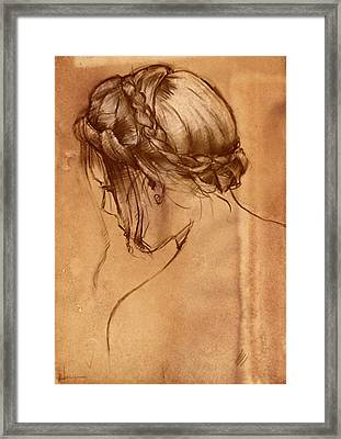 Hair Study Framed Print by H James Hoff