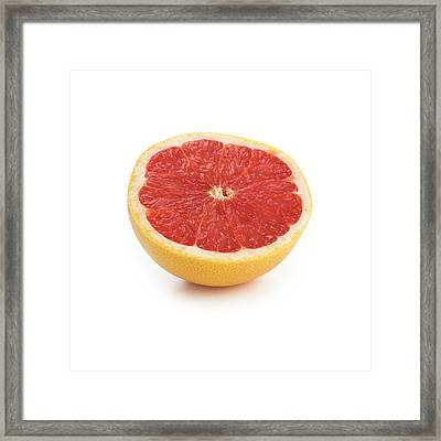 Half A Grapefruit Framed Print by Science Photo Library