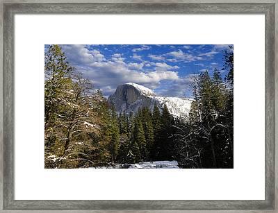 Half Dome In Winter Framed Print