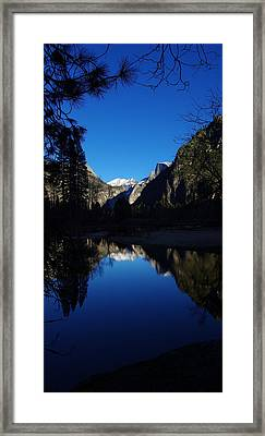 Half Dome Reflecting Framed Print by Scott McGuire