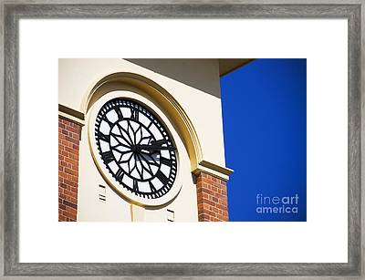 Hall Clock Framed Print by Jorgo Photography - Wall Art Gallery