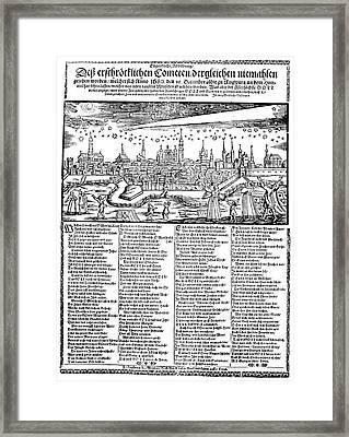 Halley's Comet, 1680 Framed Print by Granger