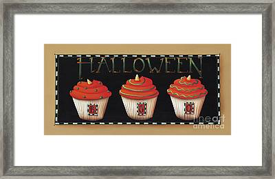 Halloween Cupcakes Framed Print by Catherine Holman