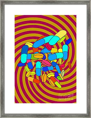 Hallucinogenic Drugs, Conceptual Image Framed Print by Stephen Wood