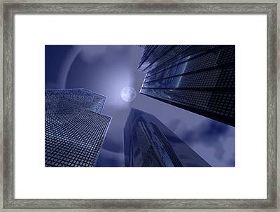 Halo On Tower 202 Framed Print
