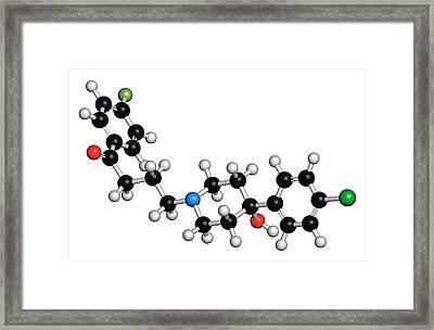 Haloperidol Antipsychotic Drug Molecule Framed Print by Molekuul