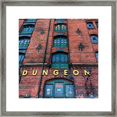 Hamburg Dungeon Was Built In 2000, Is A Framed Print