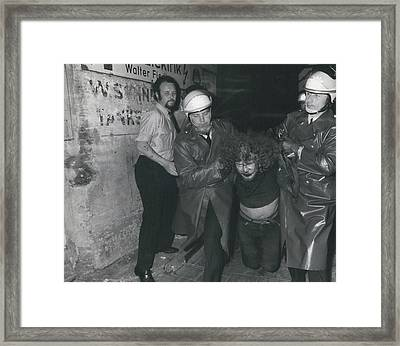 Hamburg Police Clears Occupied House Framed Print by Retro Images Archive