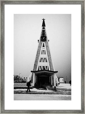 Hammerfest Church Finnmark Norway Europe Framed Print