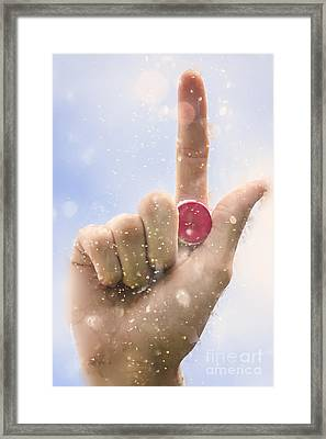 Hand Holding Drink Bottle Top During Opening Act Framed Print by Jorgo Photography - Wall Art Gallery