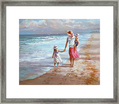 Hand In Hand Framed Print by Laurie Hein