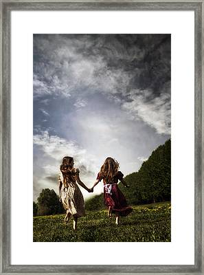 Hand In Hand Through Life Framed Print by Joana Kruse