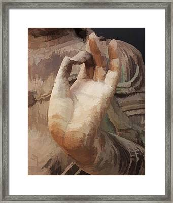 Hand Of Buddha C2014 Framed Print