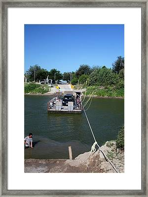 Hand-powered Ferry Framed Print by Jim West