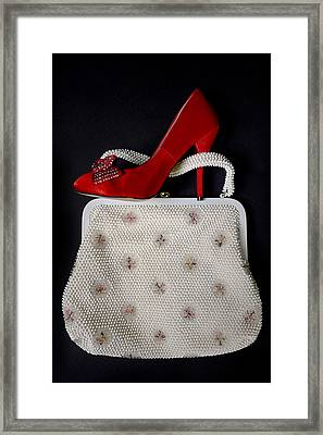 Handbag With Stiletto Framed Print by Joana Kruse