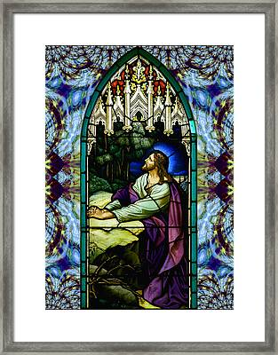 Handel Stained Glass Framed Print