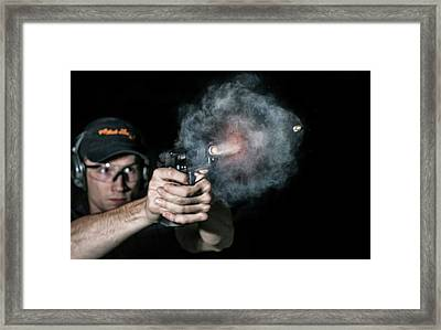 Handgun Shot Framed Print